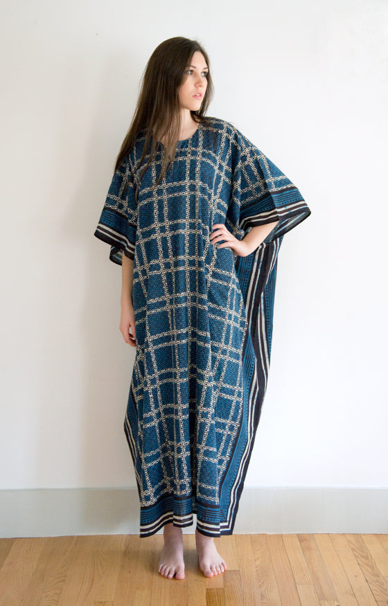 Kaftan in Japanese Grid