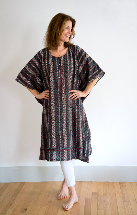 Midi Kaftan in Japanese Stripe
