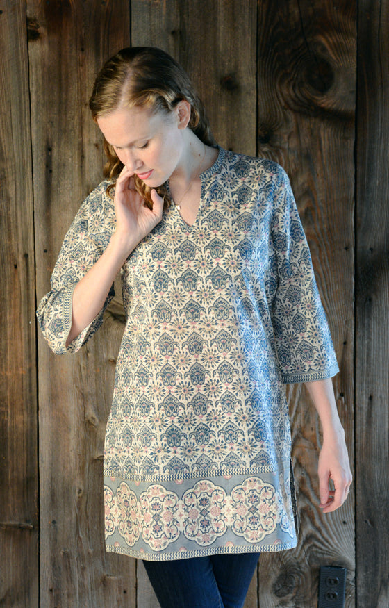 Straight Tunic in Lantern Tiles
