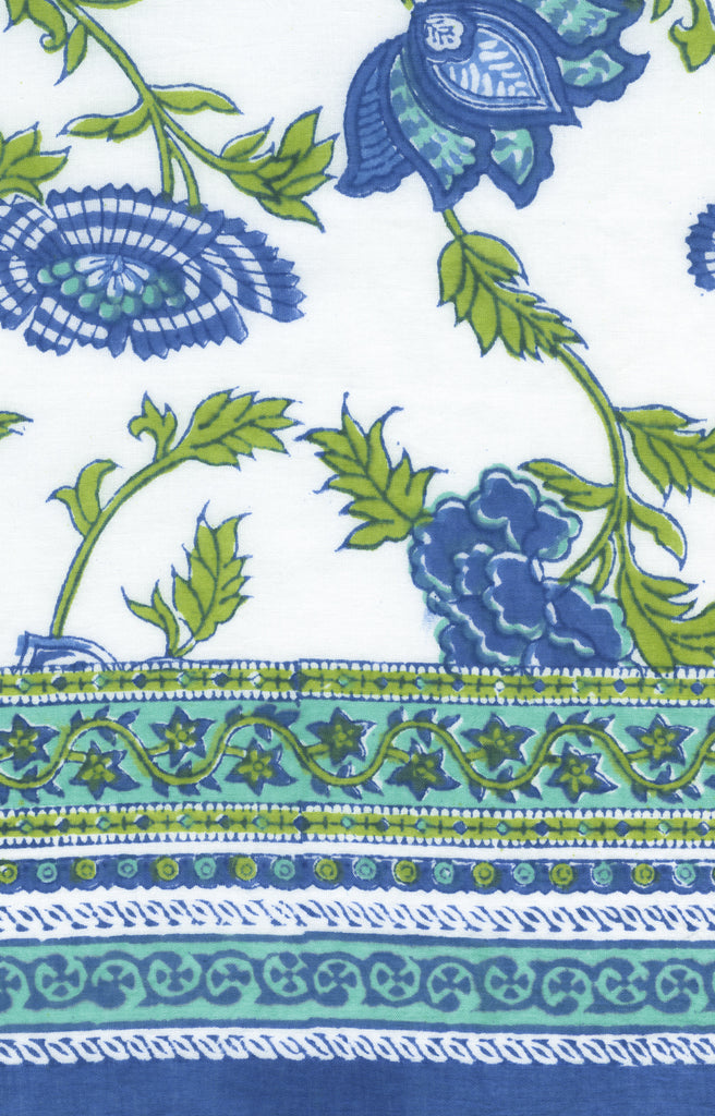 Table Linens in Lapis Inlay
