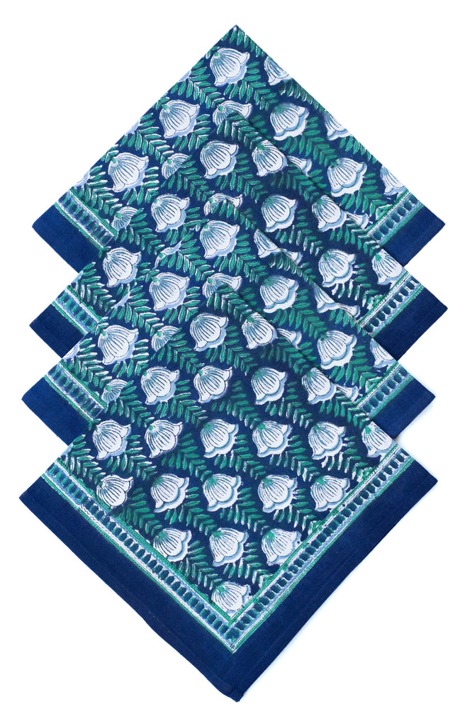 Table Linens in Lapis Tulip Blue (PRE ORDER)