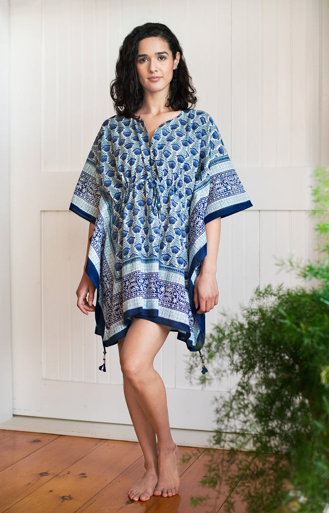 Peasant Tunic in Lapis Tulip