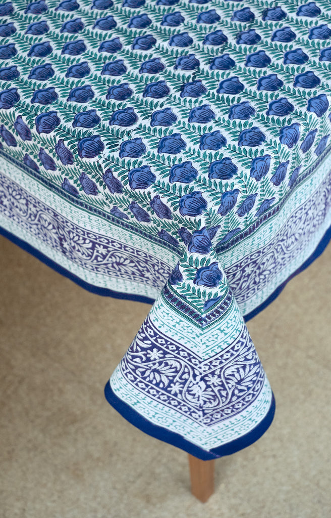 Table Linens in Lapis Tulip