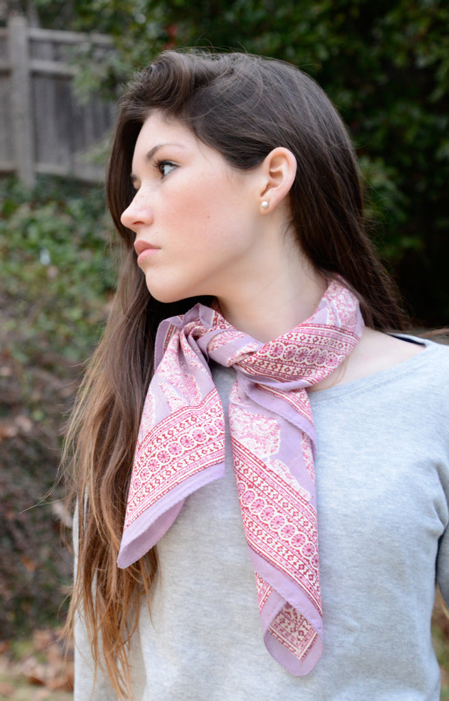 Scarf in Lavender Teardrop