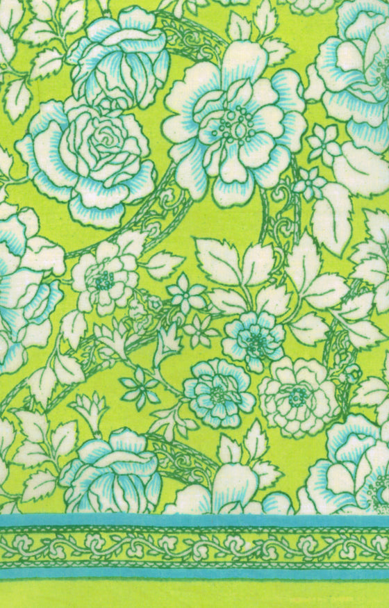 Scarf in Lime Roses