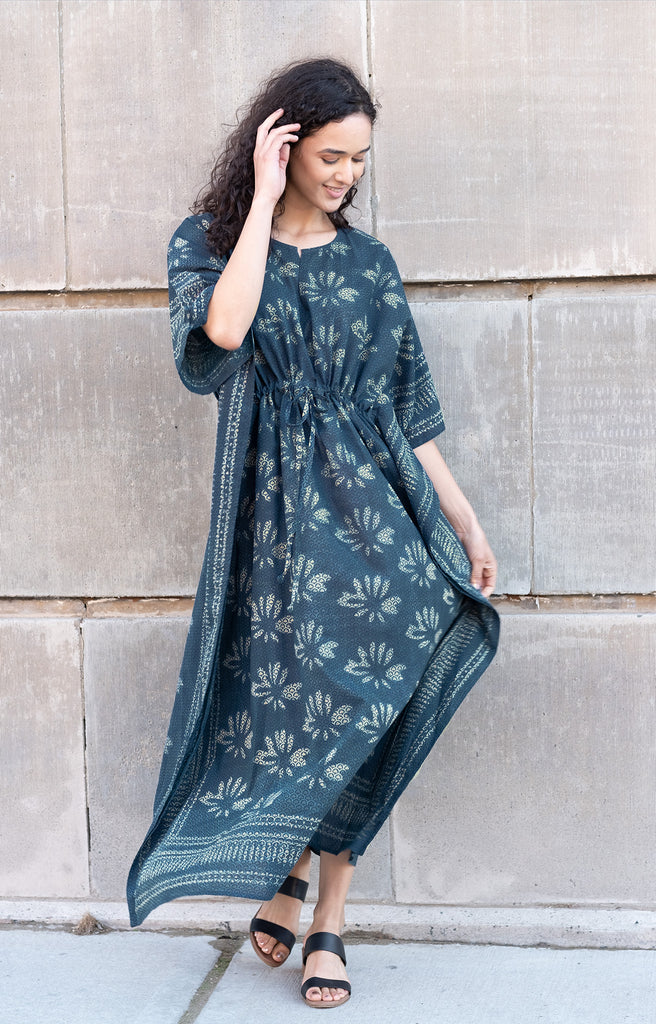 Drawstring Kaftan in Lotus