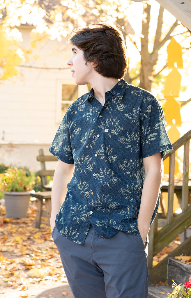 Men's Short Sleeve Shirt in Lotus