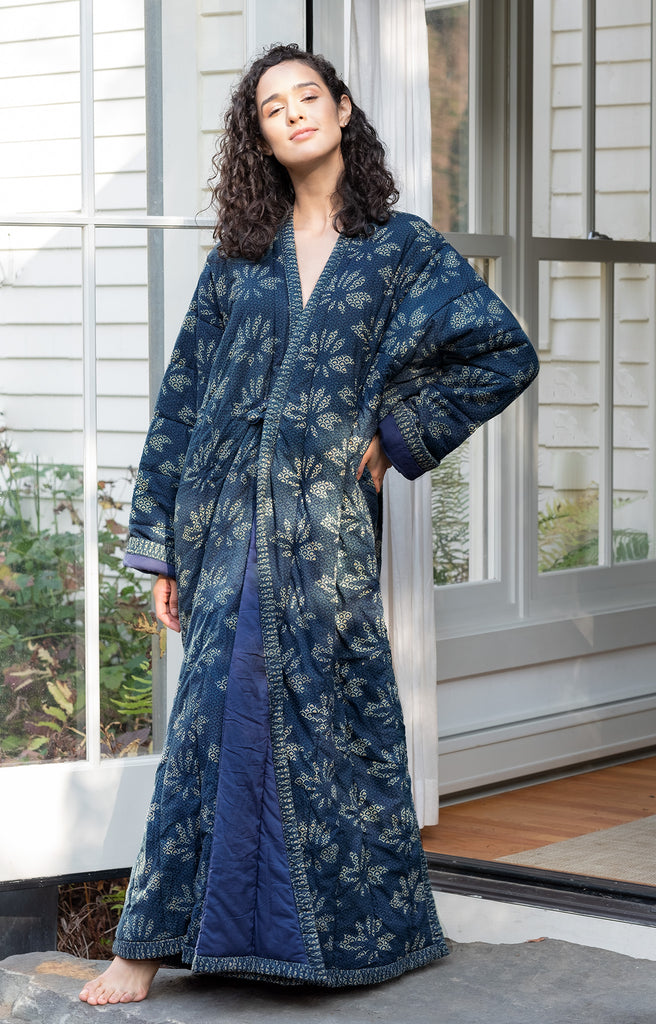 Quilted Robe in Lotus