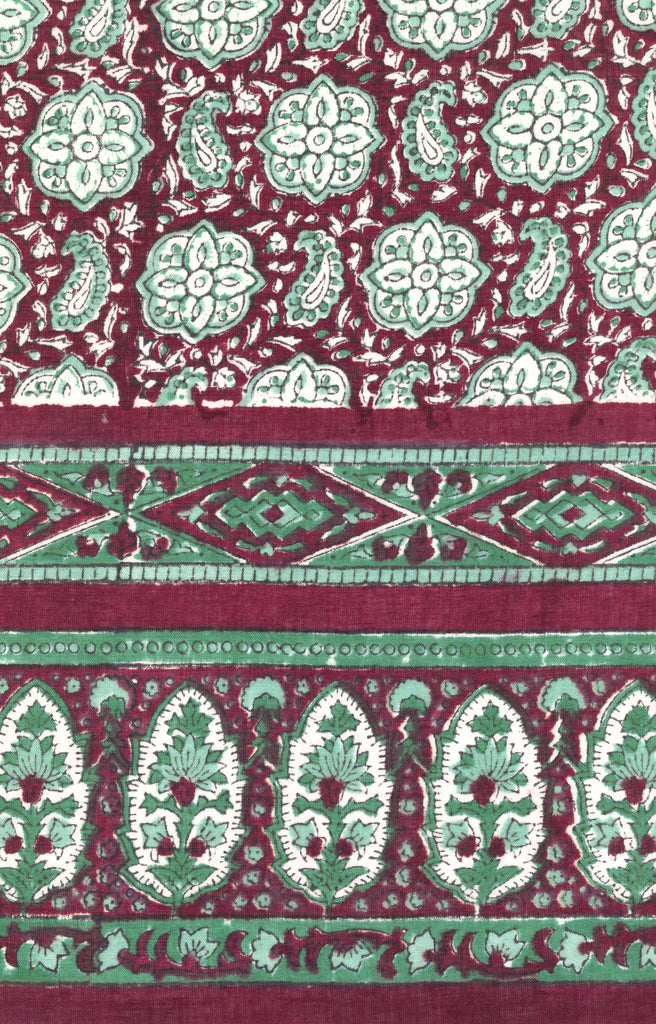 Scarf in Maroon Medallions