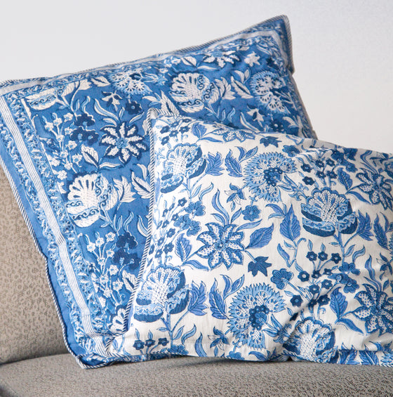Cushion Covers in Ming Blue