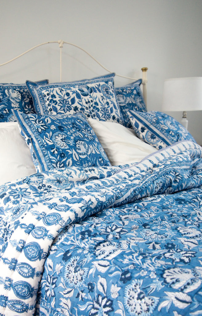 Quilt in Ming Blue