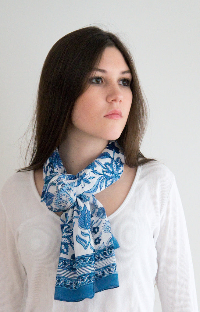 Scarf in Ming White