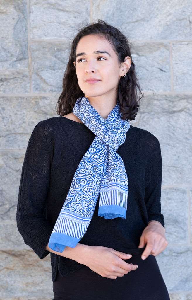 Scarf in Moroccan Blue