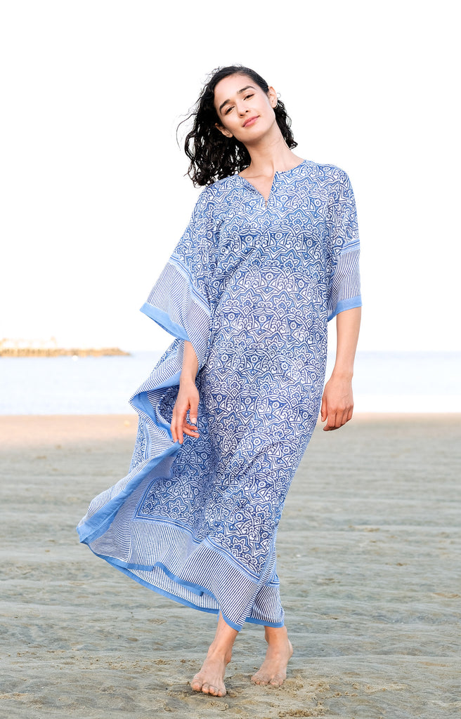 Kaftan in Moroccan Blue