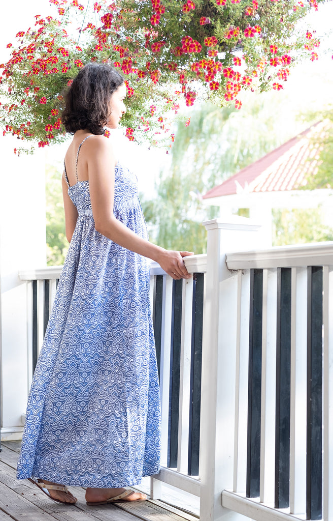 Maxi Dress in Moroccan Blue