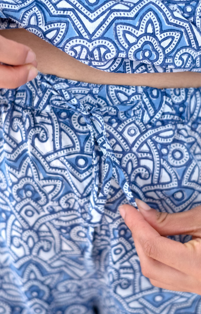 Pajamas in Moroccan Blue