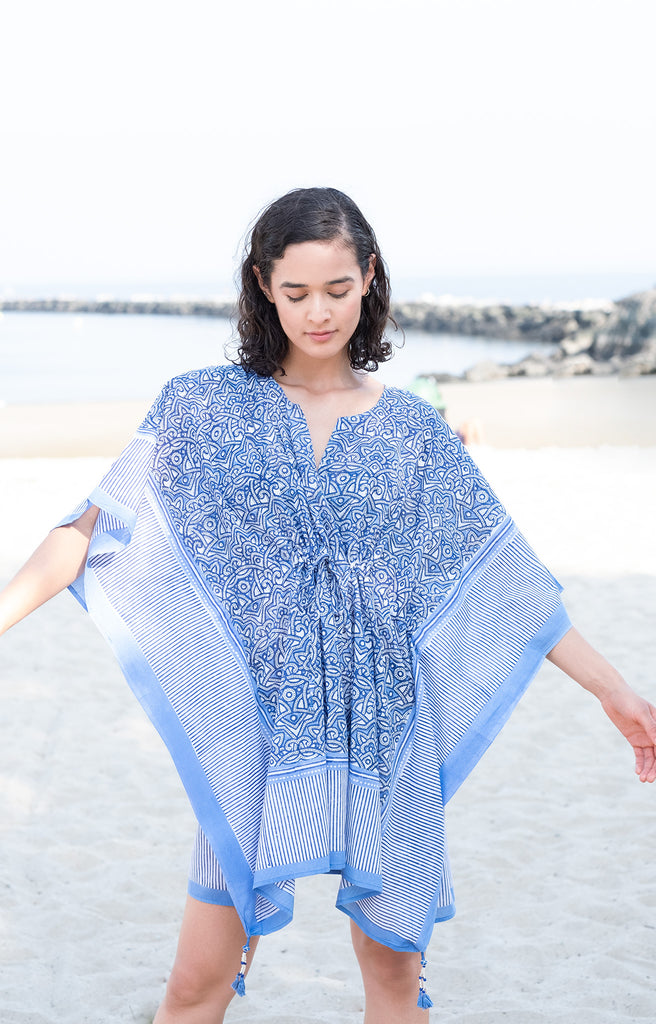 Peasant Tunic in Moroccan Blue