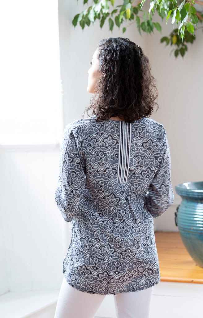 Easy Blouse in Moroccan Grey
