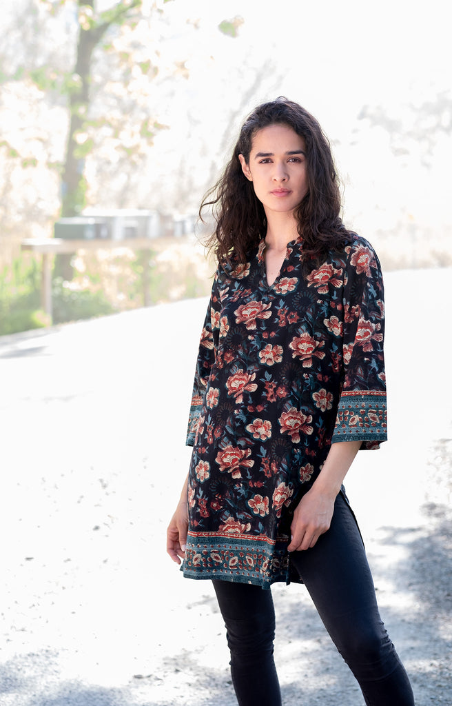 Straight Tunic in Multi Floral