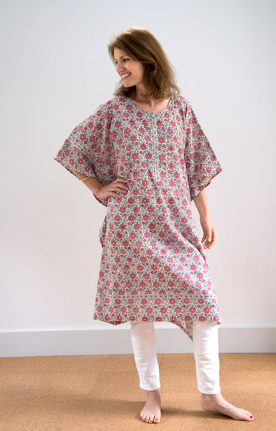 Midi Kaftan in Natural Cheer