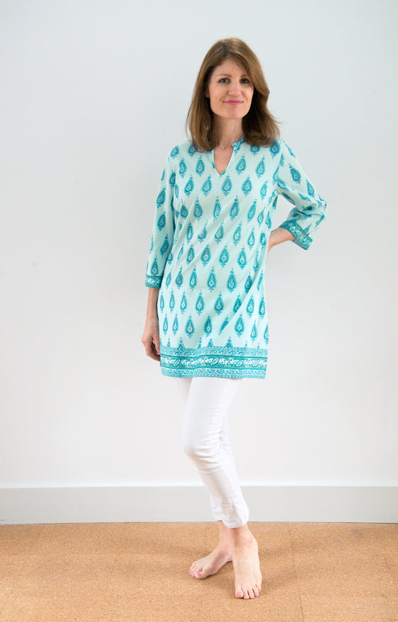 Straight Tunic in Ocean Crest