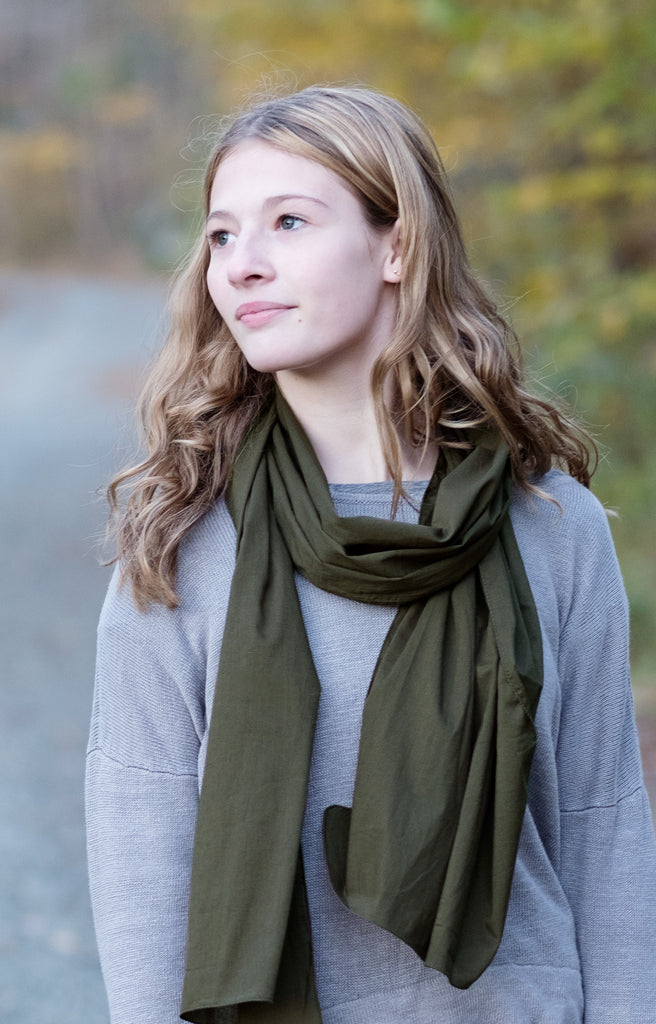 Scarf in Olive