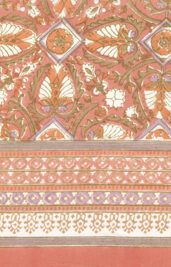Scarf in Peach Deco
