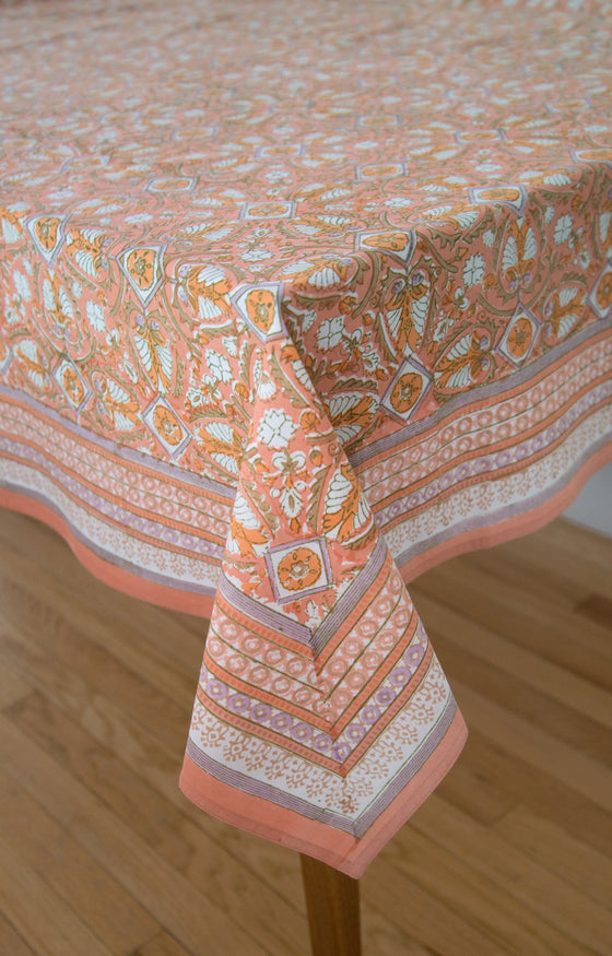 Table Linens in Peach Deco