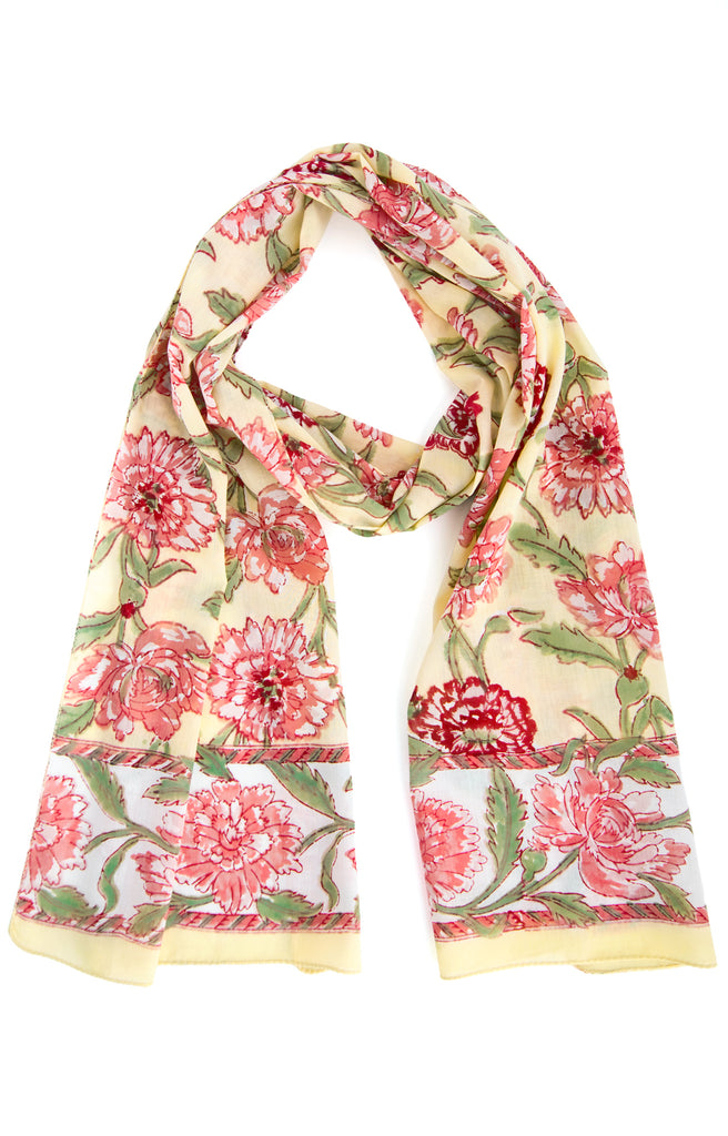 Scarf in Pink Chrysanthemum
