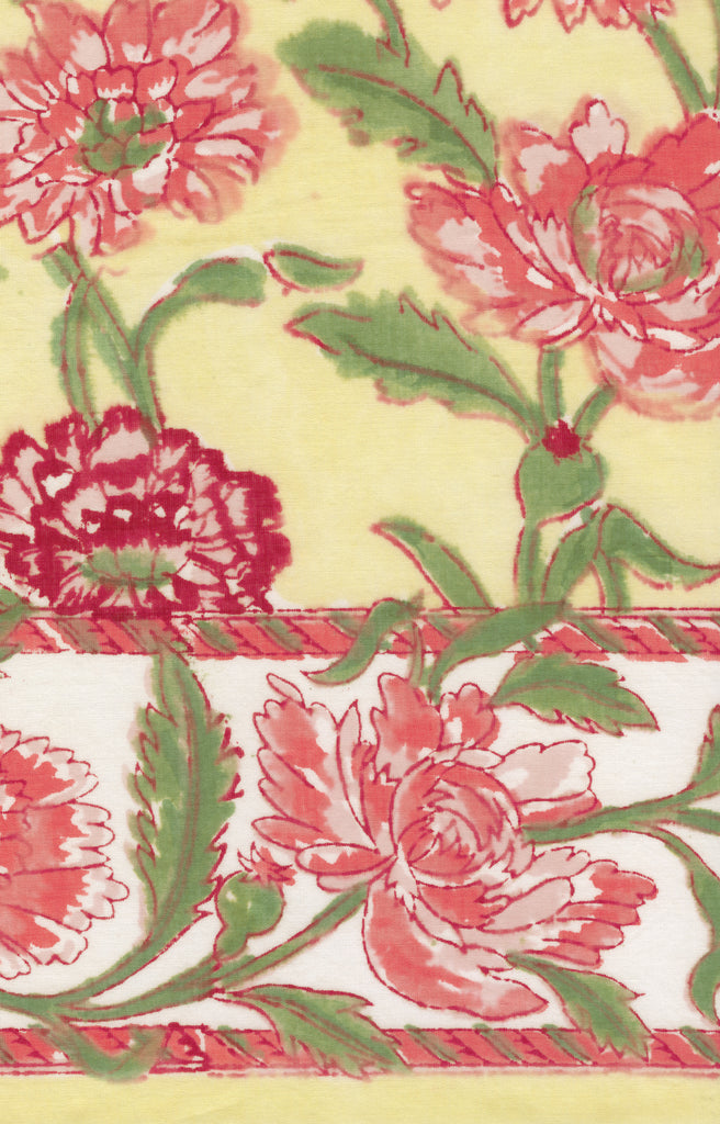Table Linens in Pink Chrysanthemum