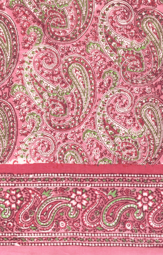 Scarf in Pink Paisley