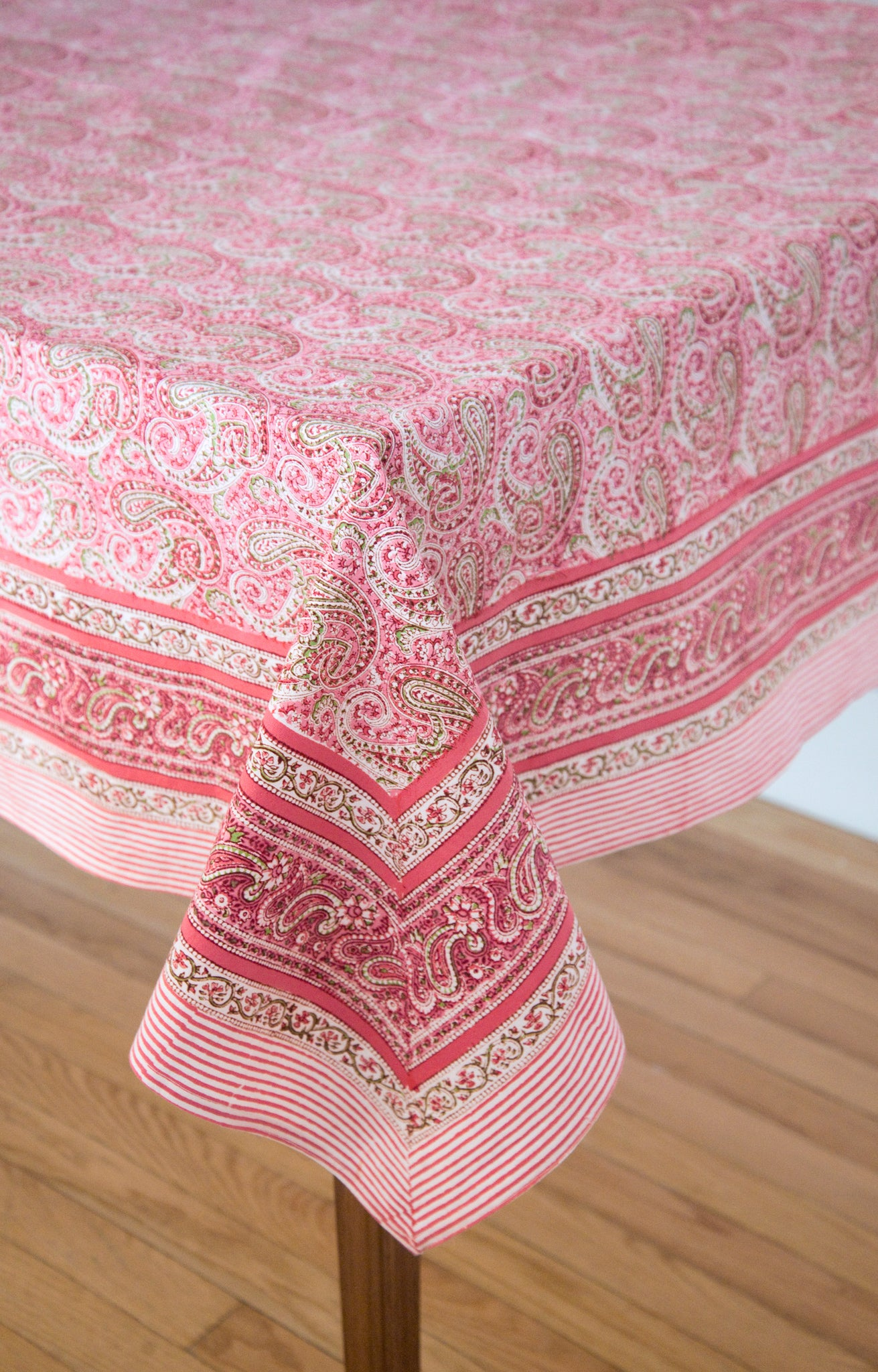 Table Linens In Pink Paisley