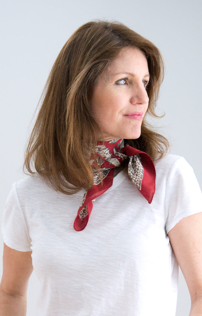 Scarf in Pomegranate Press
