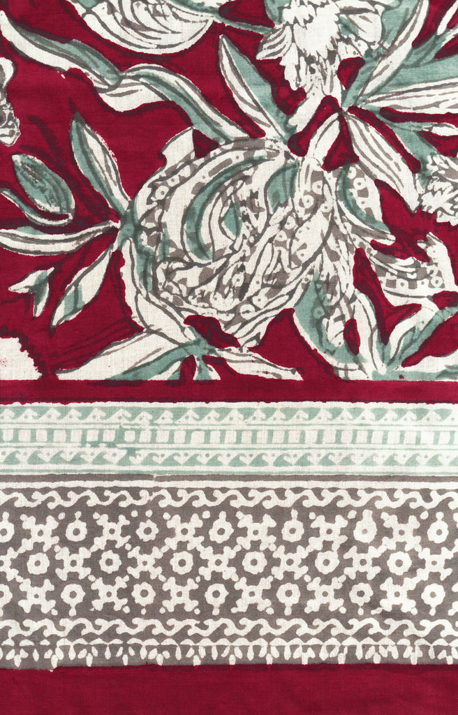 Table Linens in Pomegranate Press