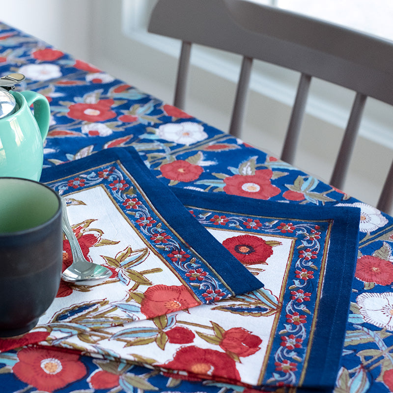 Table Linens in Poppy Fields Natural