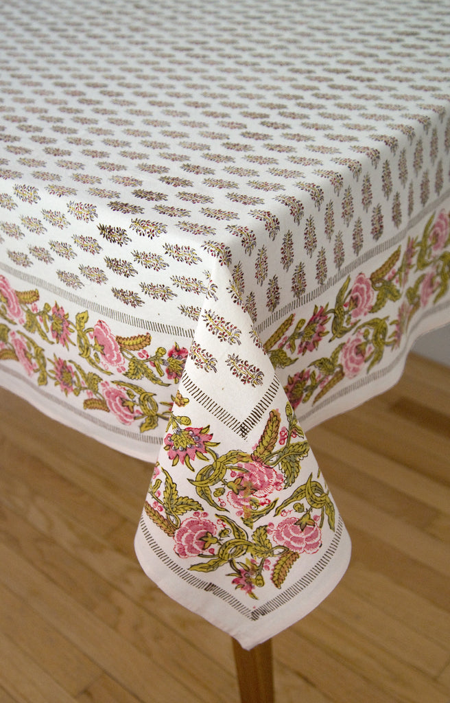 Table Linens in Pride and Primrose