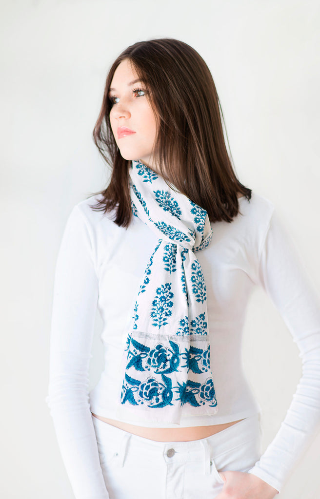 Scarf in Prussian Echo