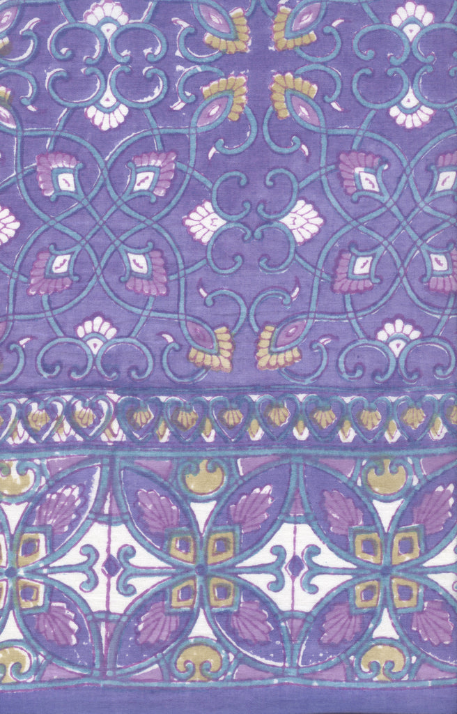 Table Linens in Purple Art Deco