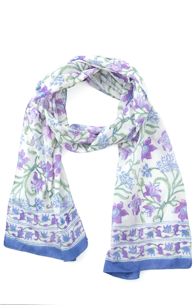 Scarf in Purple Thistle