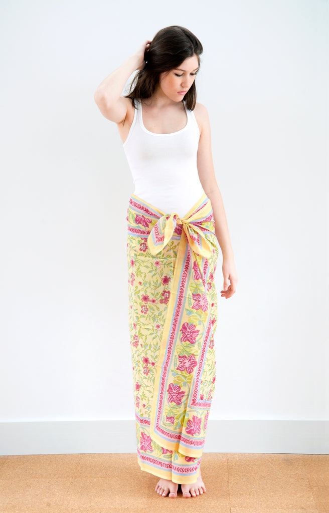 Sarong in Rambling Rose