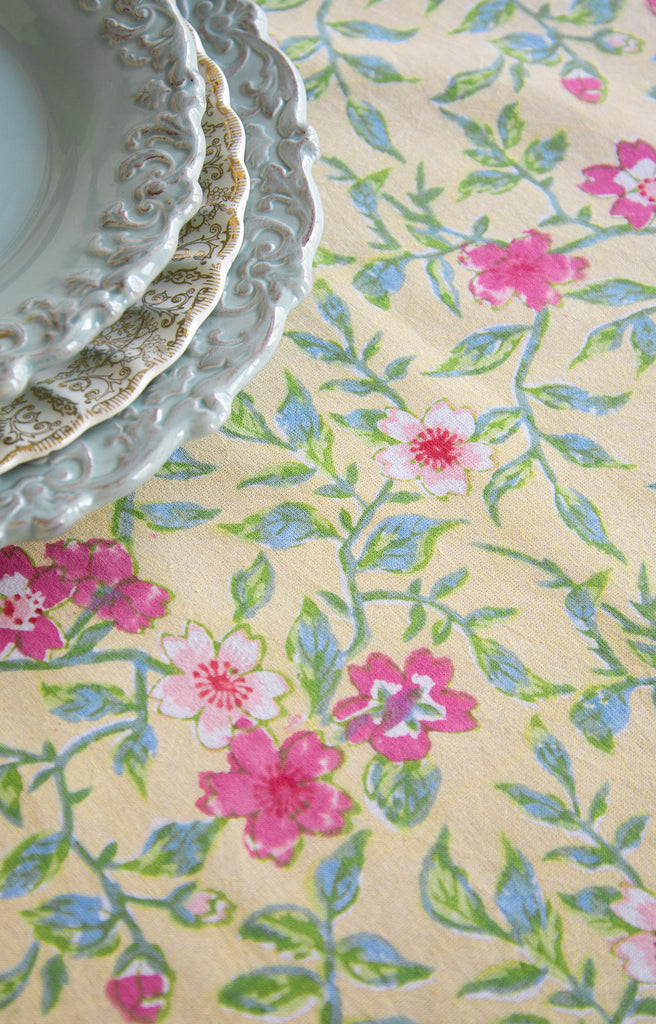 Table Linens in Rambling Rose
