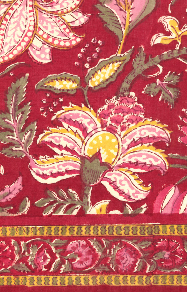 Scarf in Red Tapestry