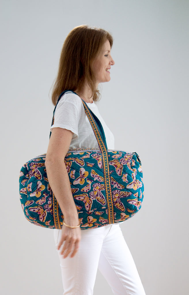 Holdall Bag in Retro Butterflies
