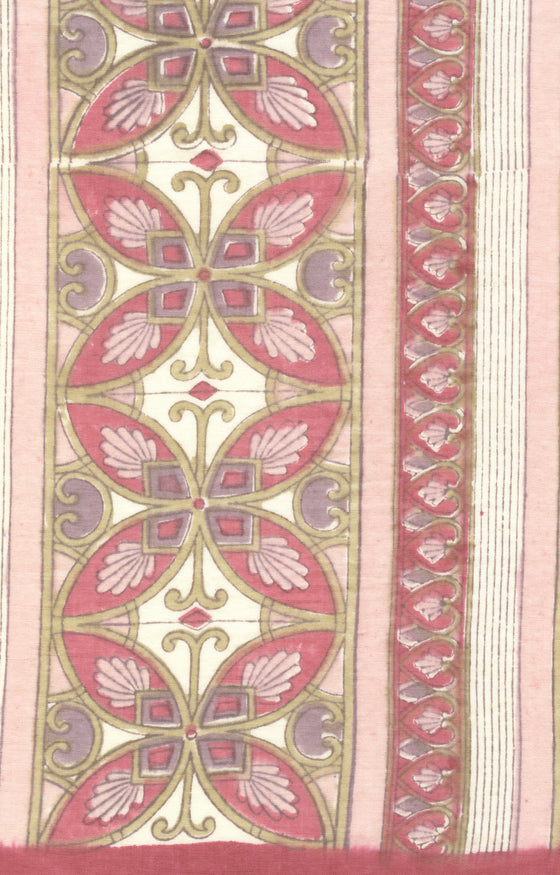 Scarf in Rose Mosaic