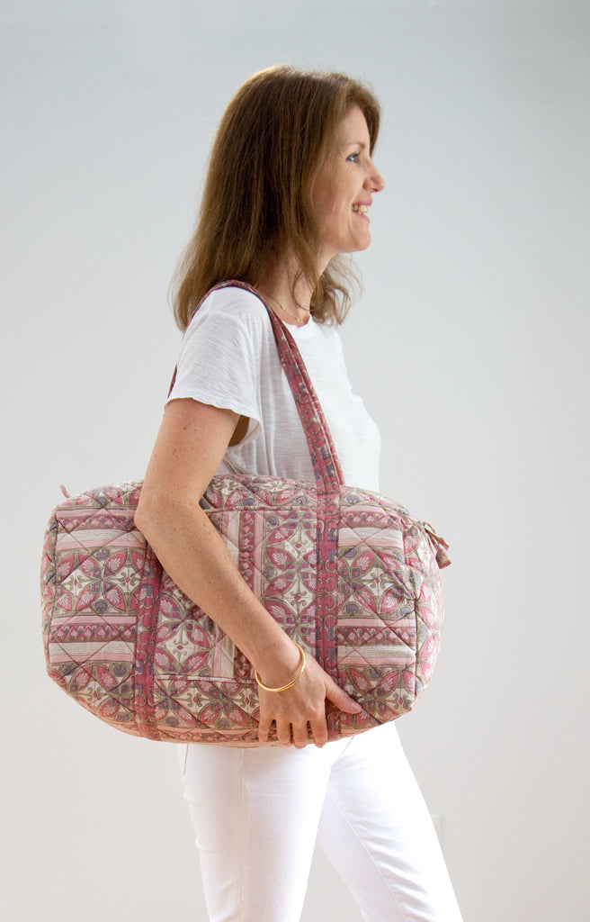 Holdall Bag in Rose Mosaic
