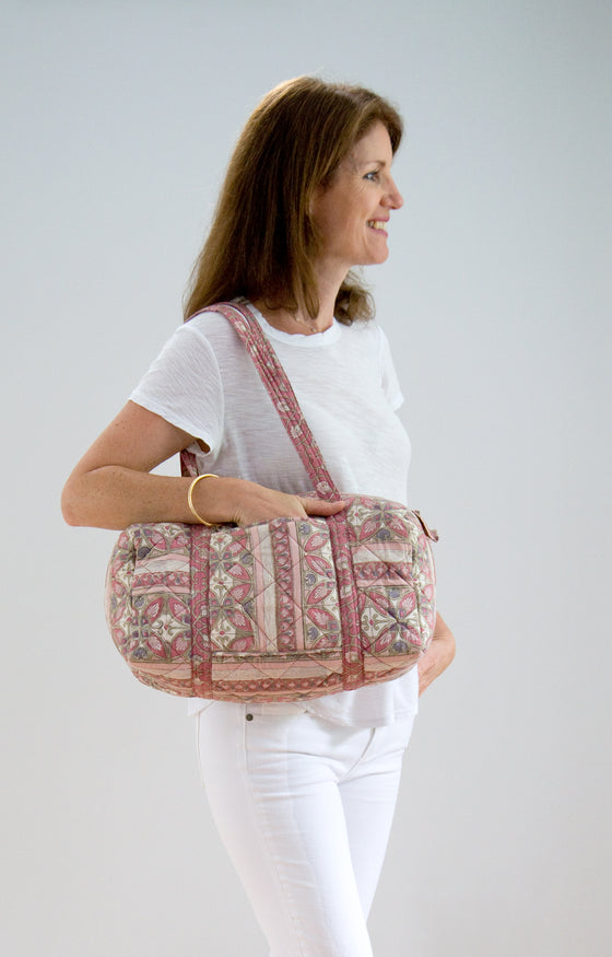 Weekend Bag in Rose Mosaic