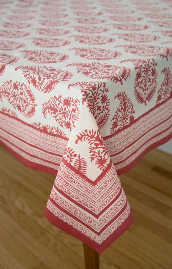 Table Linens in Rose on Natural