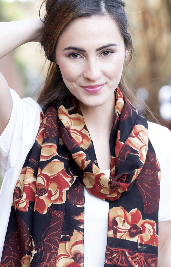 Scarf in Rust Lotus