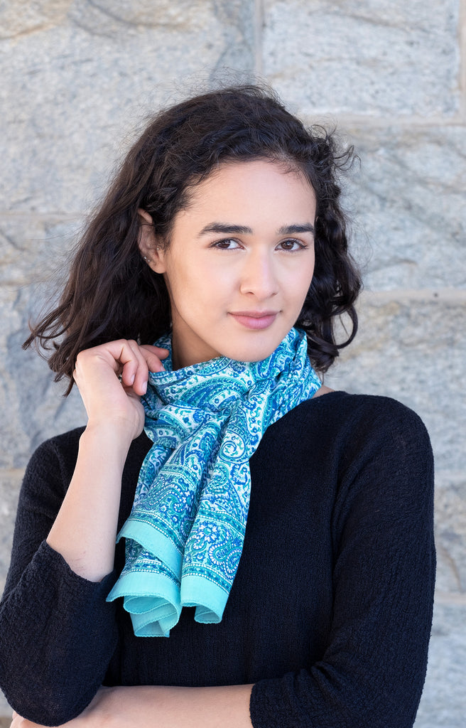 Scarf in Sea Swirl