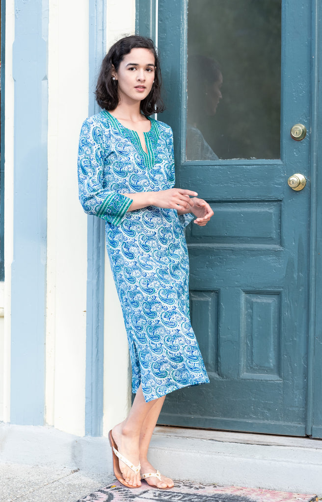 Market Dress in Sea Swirl